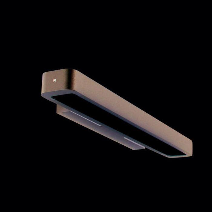Væglampe-Tube-U-14W-sølv