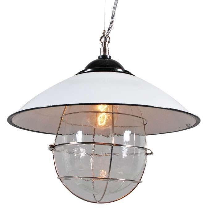 Hængelampe-Skipper-hvid