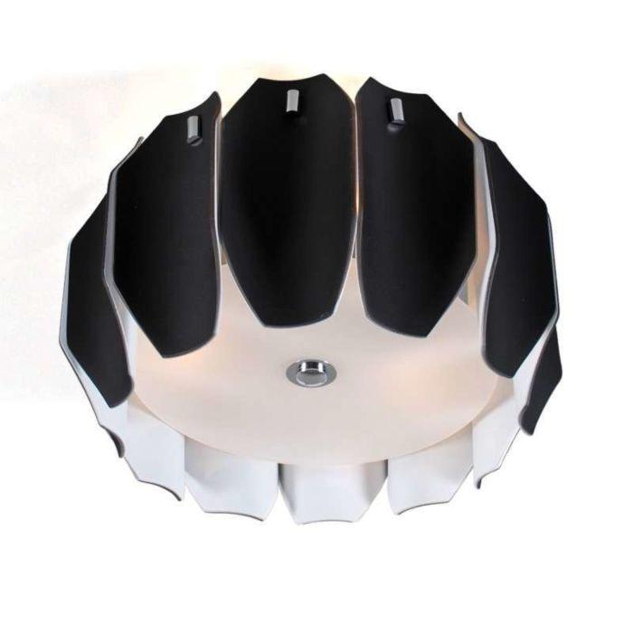 Loftlampe-Archo-40-krom---sort