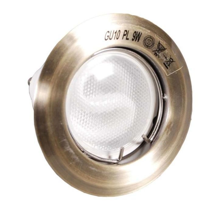 Forsænket-spot-Brænd-bronze-med-energibesparende-lampe