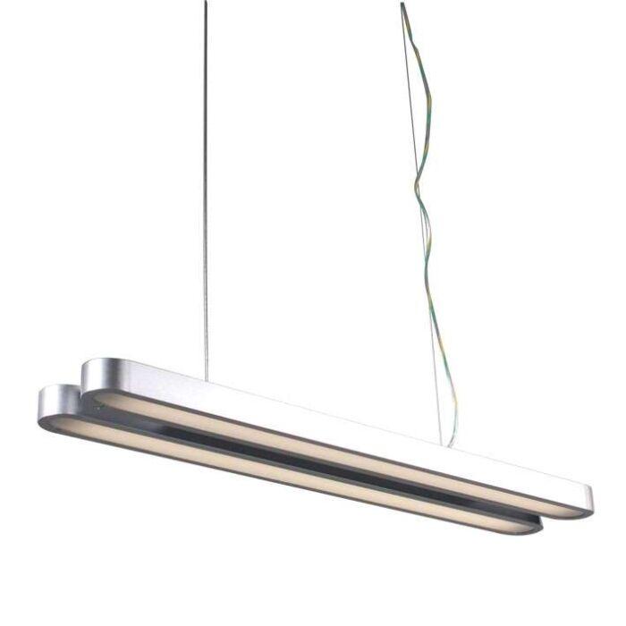 Hængelampe-Tube-Double-21W-sølv