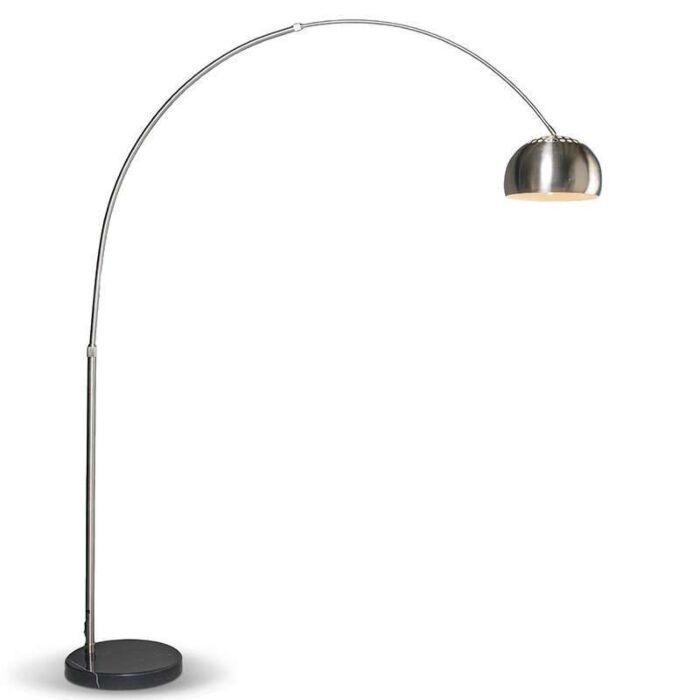 Moderne-lysbue-lampe-stål-justerbar---Grande