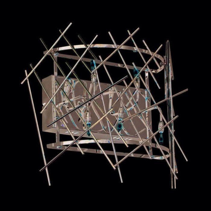Væglampe-Forest-5-krom