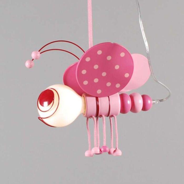 Hængelampe-Kids-Bee-Pink