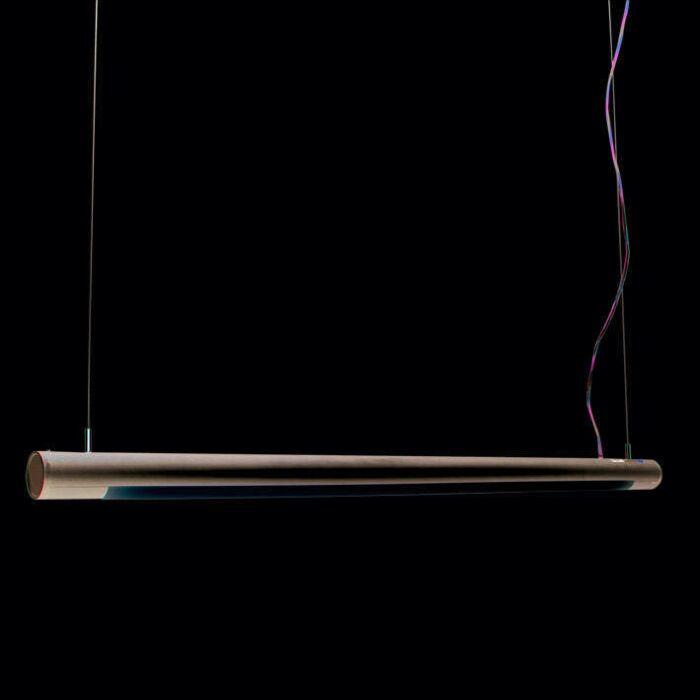 Hængelampe-Tube-O-sølv-28W