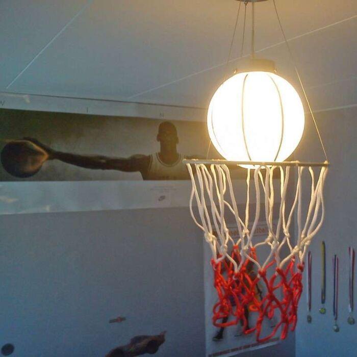 Hængelampe-Børnebasketball