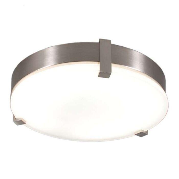 Loftlampe-Crook-rund-32W-stål