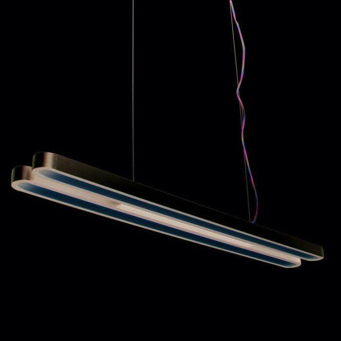 Hængelampe-Tube-U-Double-28W-sølv