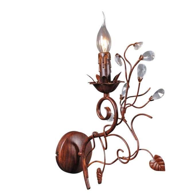 Væglampe-Romance-1-antikbrun