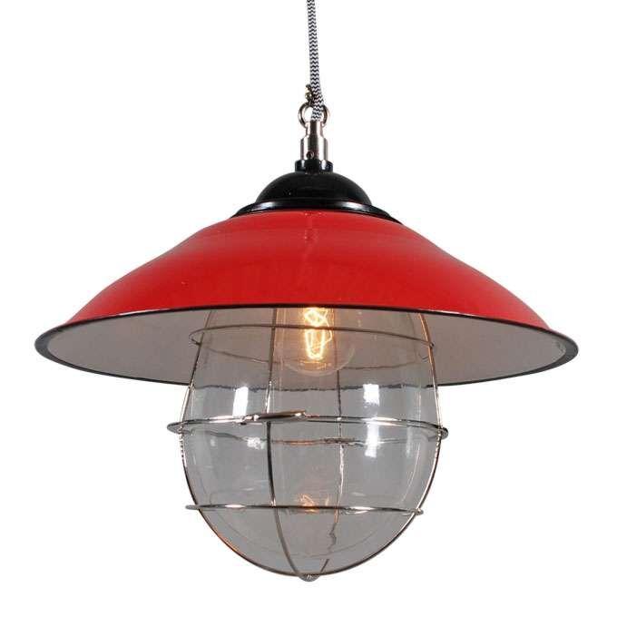 Hængelampe-Skipper-rød