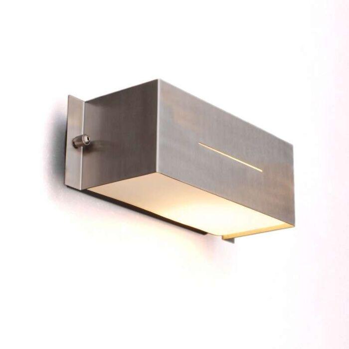 Udendørslampe-Celine-væg-Firkantet-rustfrit-stål