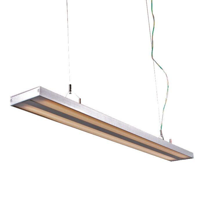 Hængelampe-Tube-S-sølv-2-x-28W