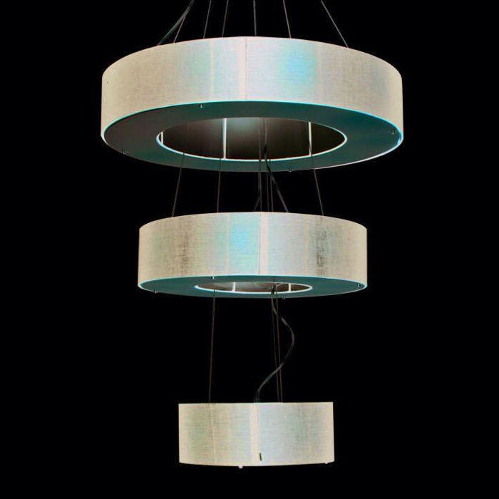 Hængelampe-Tromme-Åben-3-lags-sort