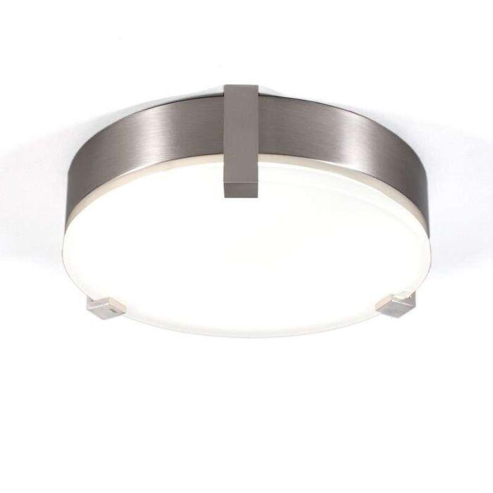 Loftlampe-Crook-rund-22W-stål