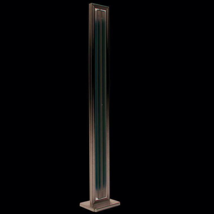 Gulvlampe-Tube-lige-sølv