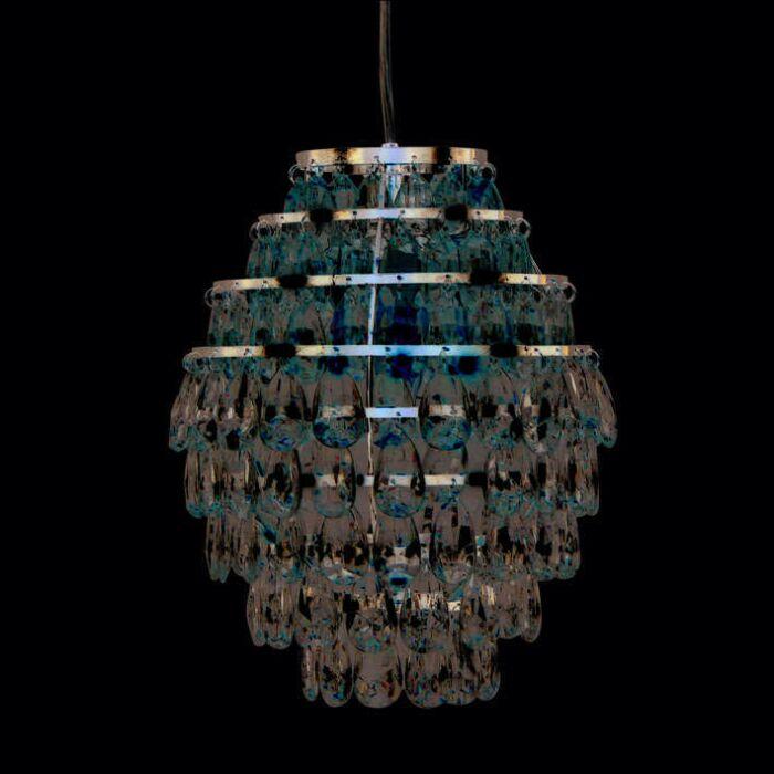 Hængelampe-Pinecone-krom