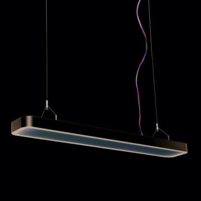 Hængelampe-Tube-U-2-x-21W-sølv
