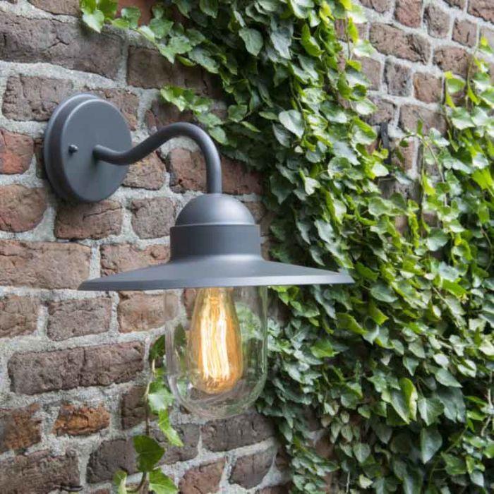 Udendørs-væglampe-antracit-IP44---Kansas-grafit