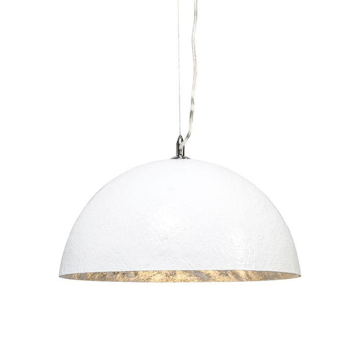 Hængelampe-Magna-40-hvid---sølv