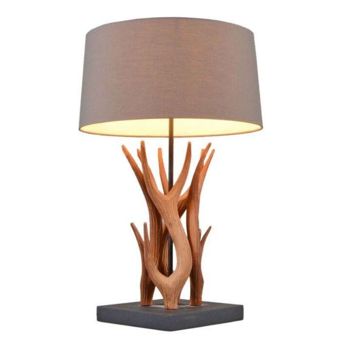 Bordlampe-Yindee-naturlig-med-brun-skygge