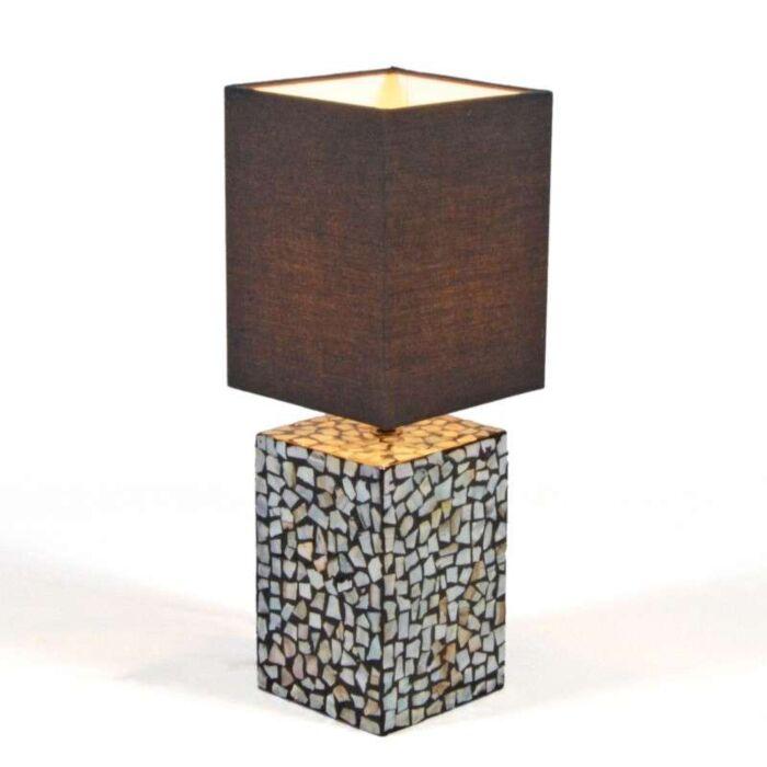 Bordlampe-Pearl-med-sort-skærm