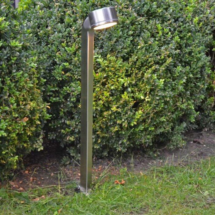 Udendørslampe-Slangestang-68cm-rustfrit-stål