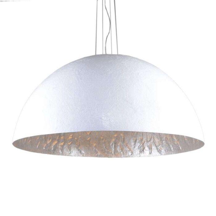 Hængelampe-Magna-120-hvid---sølv