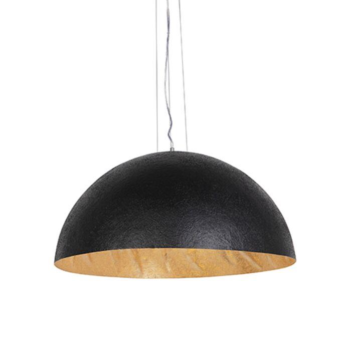 Industriel-hængelampe-sort-med-guld-70-cm---Magna