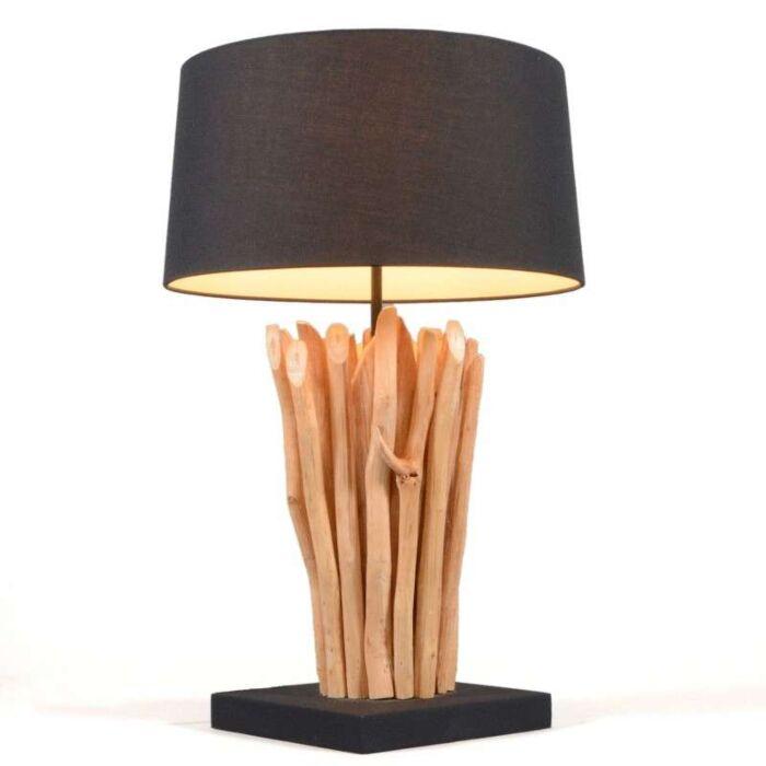 Bordlampe-Phatom-naturlig-med-sort-skærm