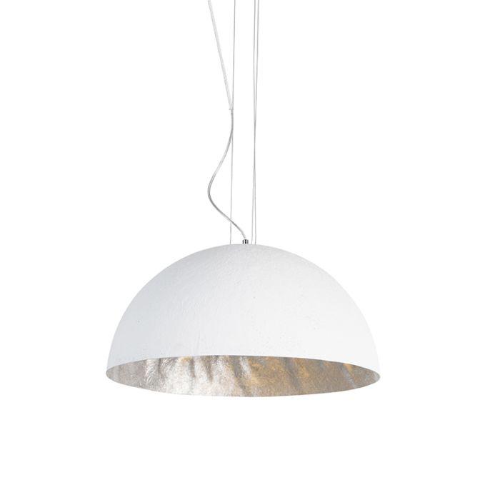 Moderne-hængelampe-hvid-50-cm---Magna