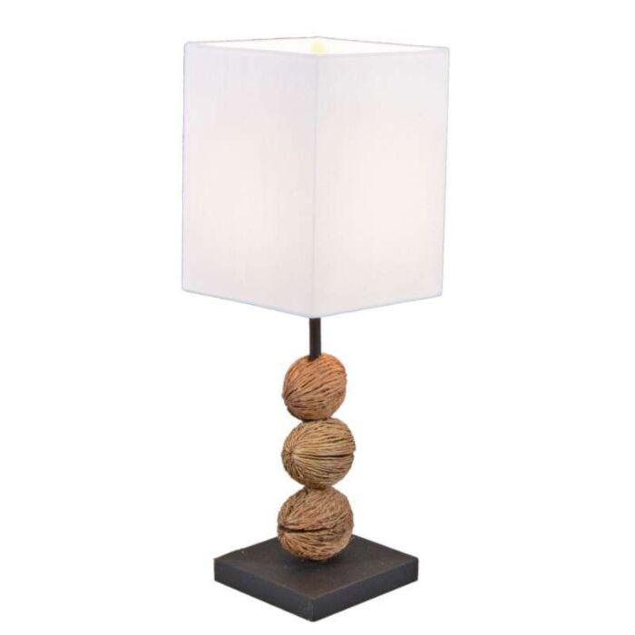 Tasanee-bordlampe-med-hvid-skærm