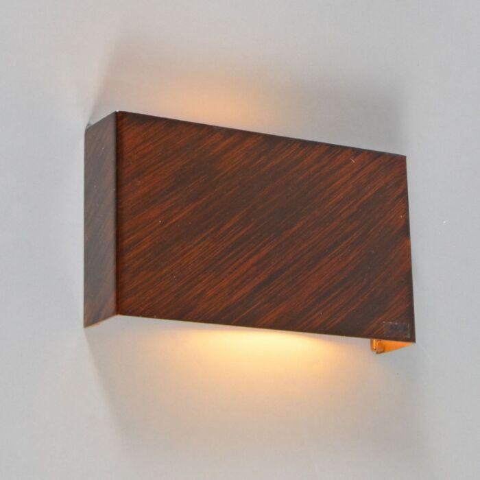 Væglampe-Otan-rustbrun