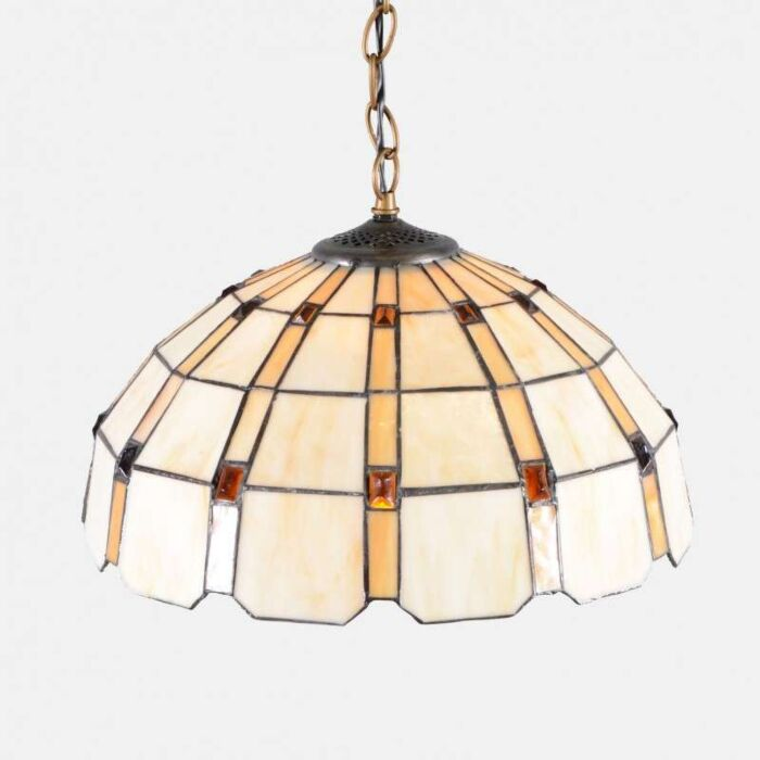 Tiffany-hængende-lampe-Liddesdale