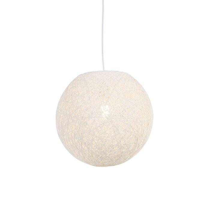 Land-hængende-lampe-hvid-35-cm---Corda