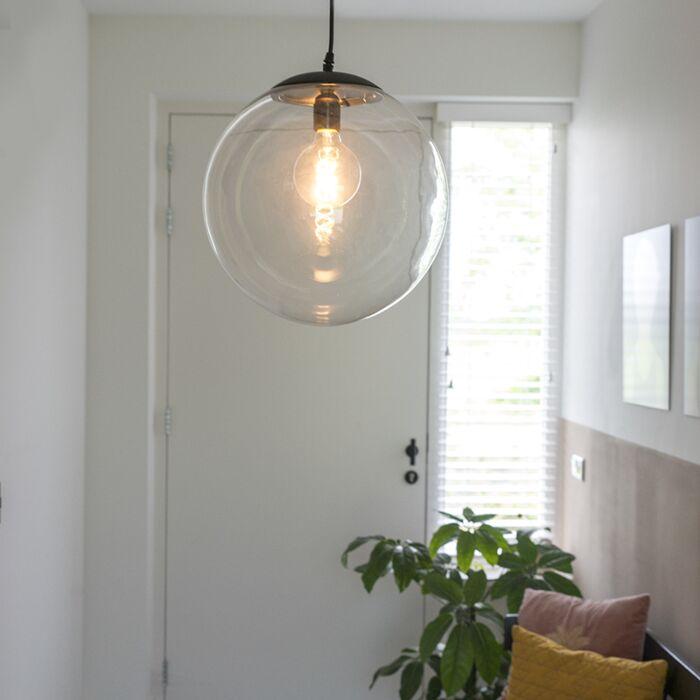 Moderne-hængende-lampe-gennemsigtig-35-cm---Pallon