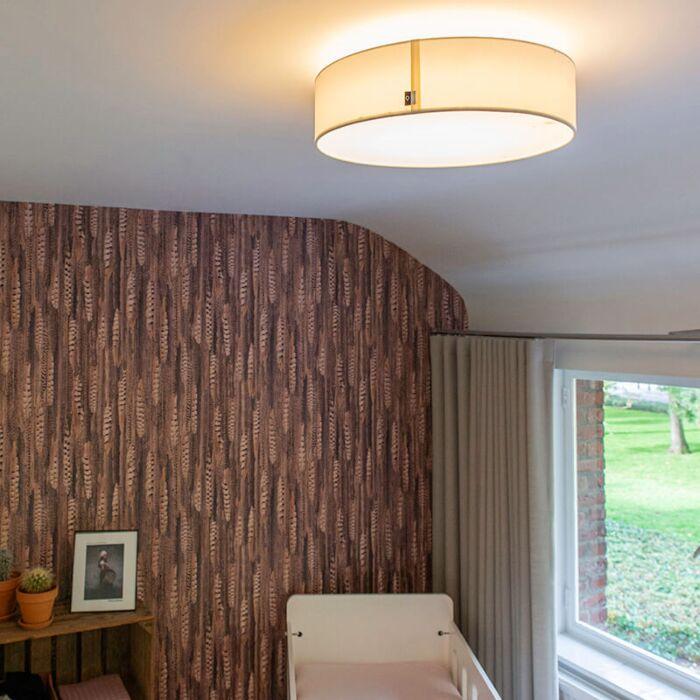 Loftlampe-hvid-40-cm-inkl.-LED---Drum-LED