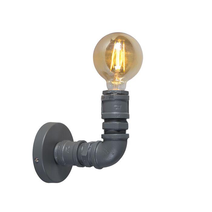 Industriel-væglampe-mørkegrå---Blikkenslager-1