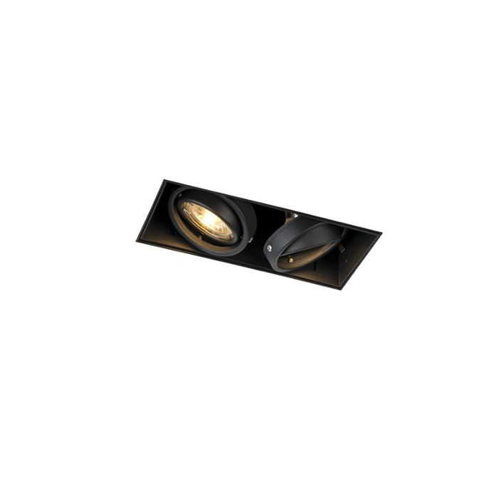 Indbygget-plet-sort,-drejeligt-og-vippeløst,-2-lys---Oneon-2