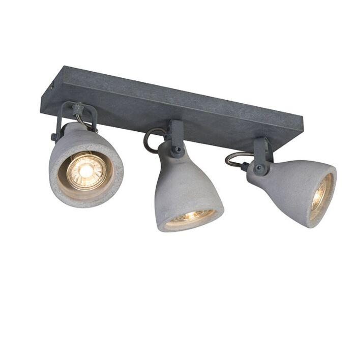 Industriel-spotgrå-beton-3-lys---Creto