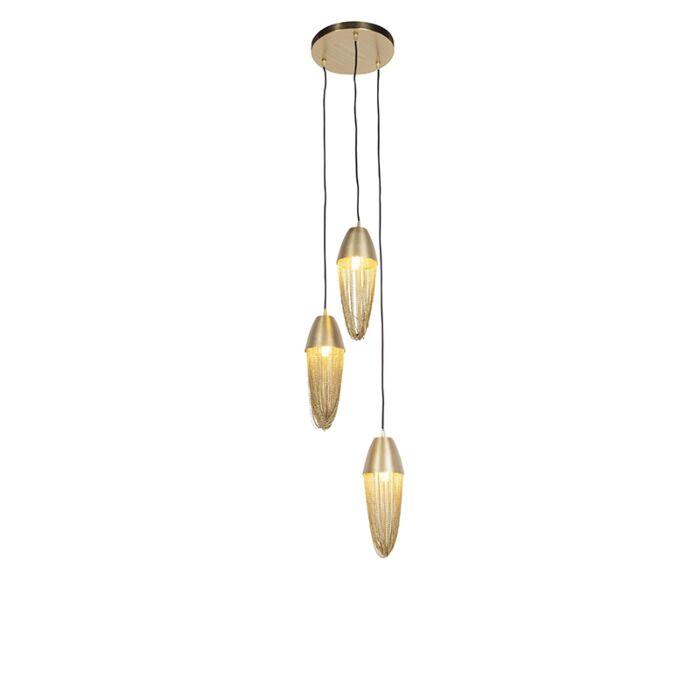 Orientalsk-hængelampe-guld-3-lys---Catena