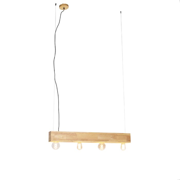 Hængende-lampe-i-træ-4-lys---Sema